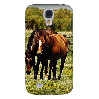 """Best Friends"" - Pair of Horses Samsung S4 Case"