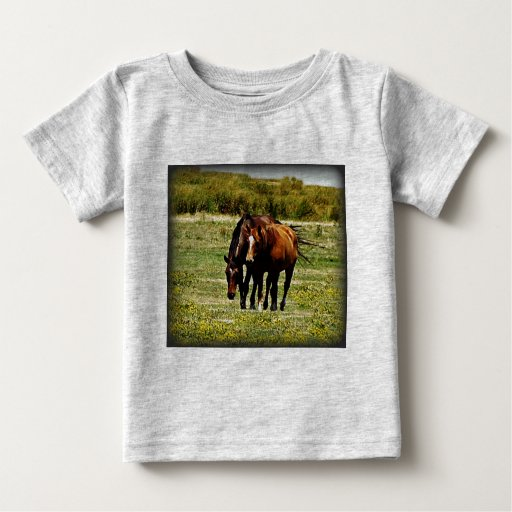 """Best Friends"" - Pair of Horses Shirts"