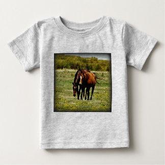 """Best Friends"" - Pair of Horses T Shirt"