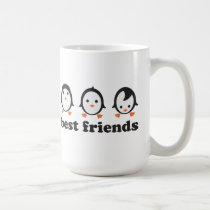 best friends - penguins coffee mug