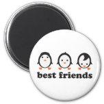 best friends - penguins fridge magnet