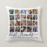 Best Friends Photo Collage Throw Pillow