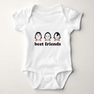 best friends - pingüinos body para bebé