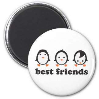 best friends - pingüinos imán redondo 5 cm