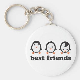 best friends - pingüinos llavero redondo tipo pin