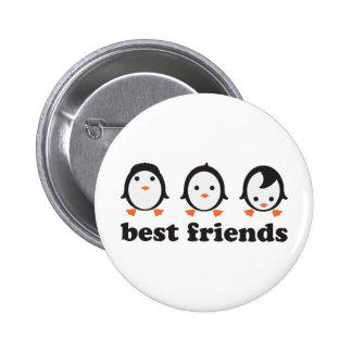 best friends - pingüinos pin redondo de 2 pulgadas