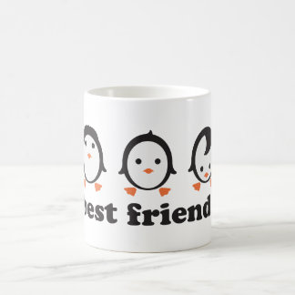 best friends - pingüinos taza clásica
