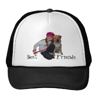 Best Friends-Pretty Girl & Puppy Trucker Hat