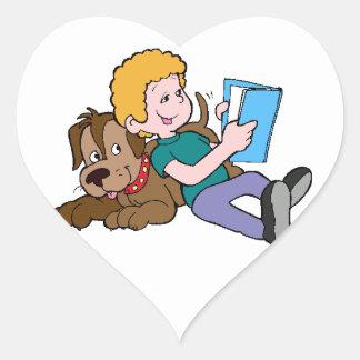 Best Friends Reading Heart Sticker
