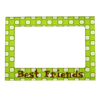 Best Friends Retro Squares Green Magnetic Frame