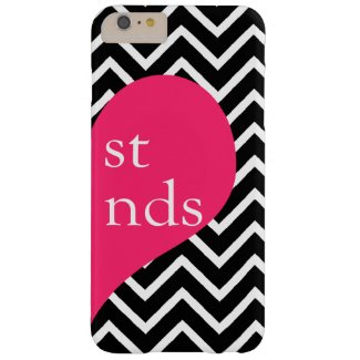 Best Friends Right Side Heart Chevron iPhone 6 Barely There iPhone 6 Plus Case