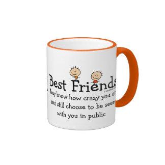 Best Friends Ringer Mug