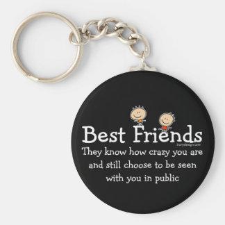 Best Friends Saying (Black) Keychain