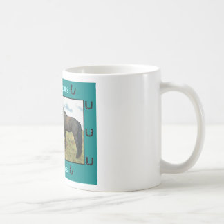 Best Friends sentiment with Horses Coffee Mug