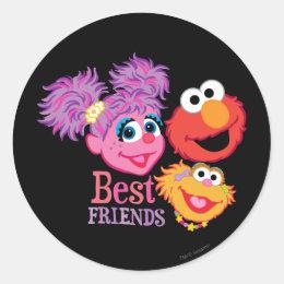 Best Friends Sesame Street Classic Round Sticker