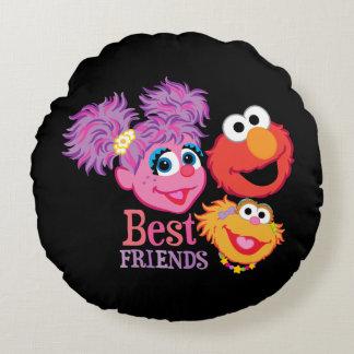 Best Friends Sesame Street Round Pillow