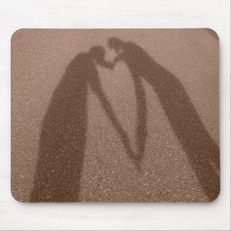 Best Friends Shadow Heart mousepad