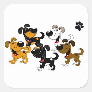 Best Friends! Square Sticker