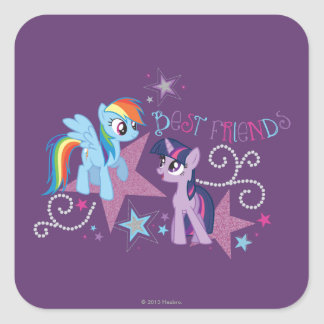 Best Friends Square Sticker