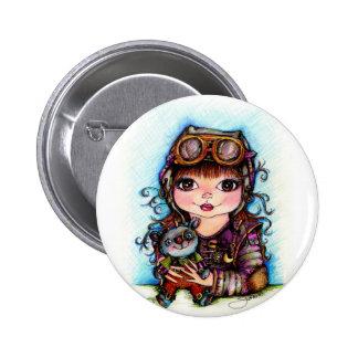 Best Friends...Steampunk Fun Pinback Buttons