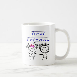 Best friends stick figure coffee mugs
