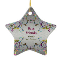 Best Friends - Swirl Pattern Star Ornament