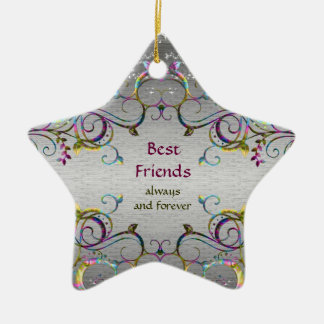 Best Friends - Swirl Pattern Star Ornament