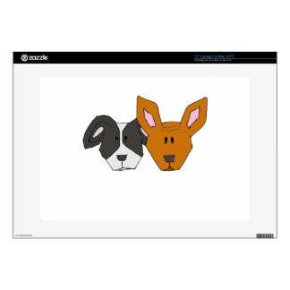 """Best Friends - The Mutts 15"""" Laptop Decal"""