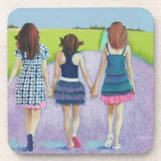 Best Friends - three girls Drink Coasters