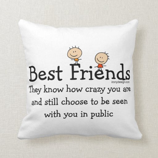 How To Choose The Right Throw Pillows : Best Friends Throw Pillows Zazzle