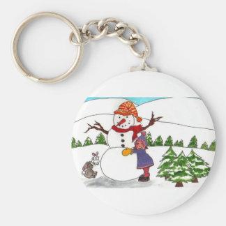 Best Friends Winter Wonderland Basic Round Button Keychain