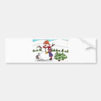 Best Friends Winter Wonderland Bumper Sticker