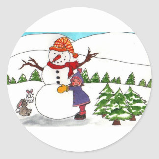 Best Friends Winter Wonderland Classic Round Sticker