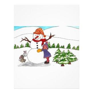 Best Friends Winter Wonderland Flyer Design