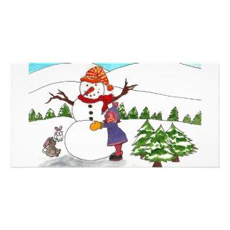 Best Friends Winter Wonderland Custom Photo Card