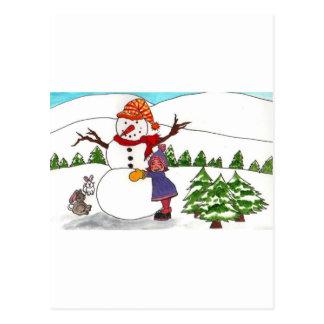 Best Friends Winter Wonderland Postcard