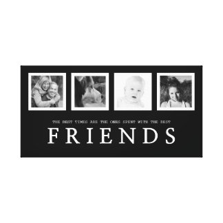 Best Friends with Four Instagram Photos Canvas Print