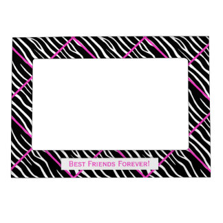 Best Friends:  Zebra Tiled Magnetic Frame