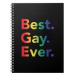 Best Gay Ever LGBT Rainbow Flag Spiral Notebooks