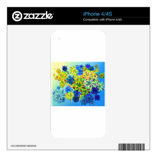 Best gift blue abstract art for mother's day decal for iPhone 4