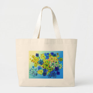 Best gift blue abstract art for mother's day large tote bag