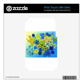 Best gift blue abstract art for mother's day skin for iPod touch 4G