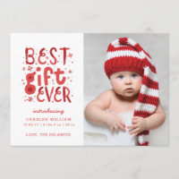 Best Gift Ever Christmas Birth Announcement