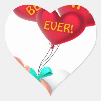 Best Gift Ever! Heart Sticker