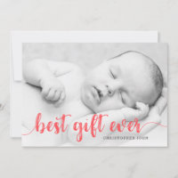 Best Gift Ever Newborn First Christmas Full Photo Announcement
