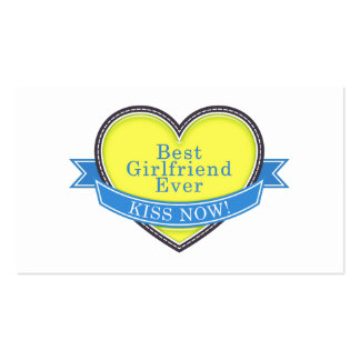 Best Girlfriend Ever Double-Sided Standard Business Cards (Pack Of 100)