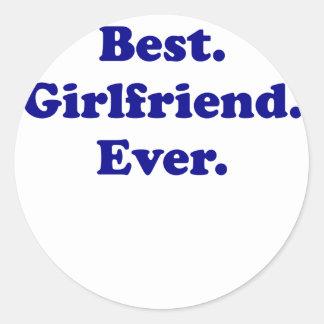 Best Girlfriend Ever Classic Round Sticker