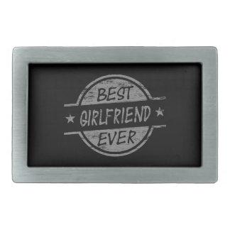 Best Girlfriend Ever Gray Rectangular Belt Buckles