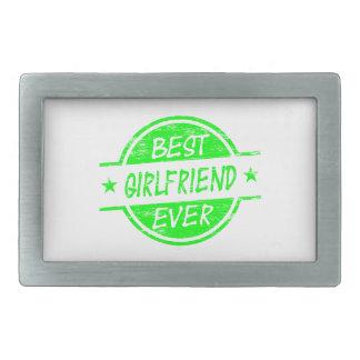 Best Girlfriend Ever Green Rectangular Belt Buckles