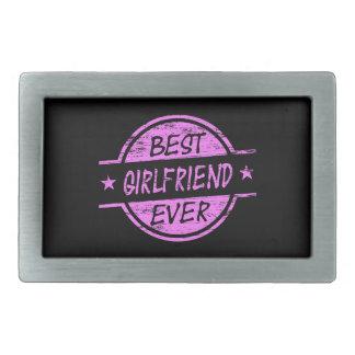 Best Girlfriend Ever Pink Rectangular Belt Buckle